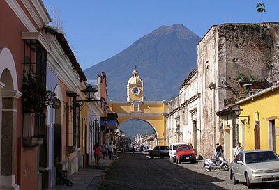 Antigua is known for its Spanish colonial architecture.