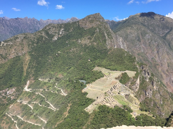 Bus route to Machu Picchu