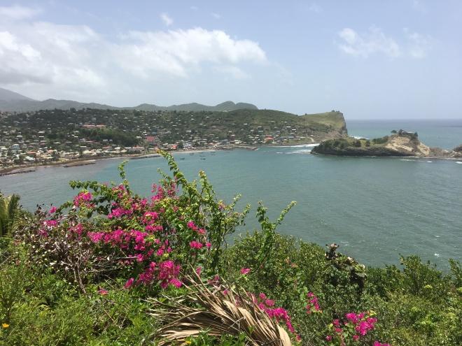 Eastern coastline of Saint Lucia