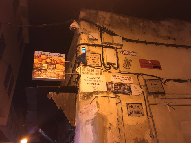 Street signs in Fes