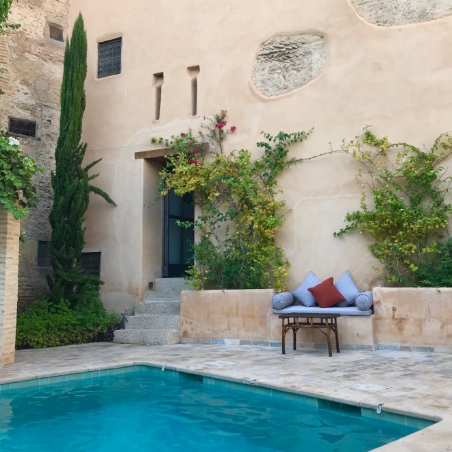 Pool at Riad Laaroussa