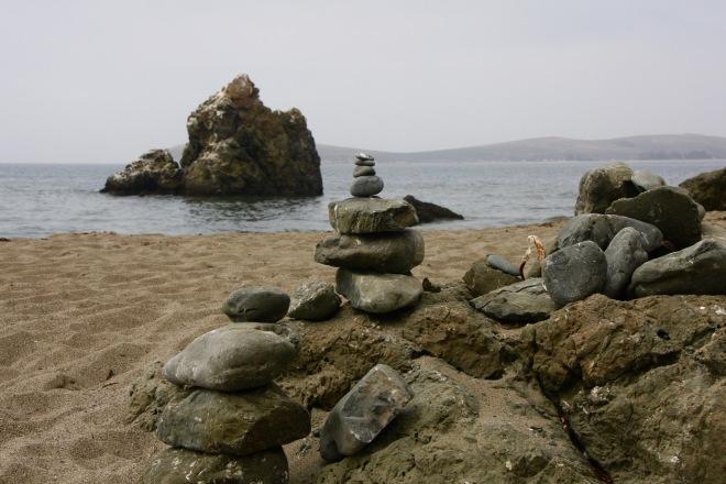 Pinnacle Gulch Beach rocks